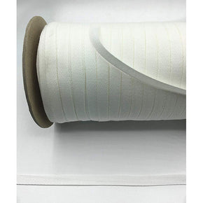 Trimplace White 3/8 Inch 100% Cotton Twill Tape