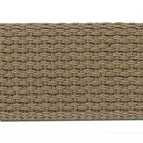 KHAKI 1 1/2 INCH COTTON WEBBING