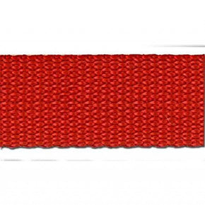 RED 1 INCH POLYPROPYLENE WEBBING