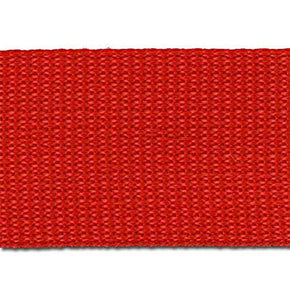 RED 2 INCH POLYPROPYLENE WEBBING