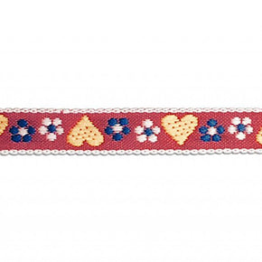 7/16 Inch Heart Jacquard Ribbon Trim
