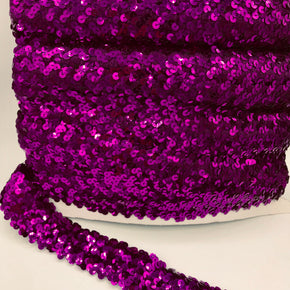 "Trimplace Purple 1-1/2"" (4 Row) Stretch Sequin"