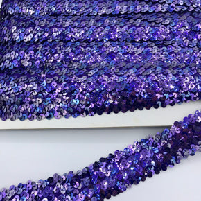 "Trimplace Jewel Plum 1-1/2"" (4 Row) Stretch Sequin"