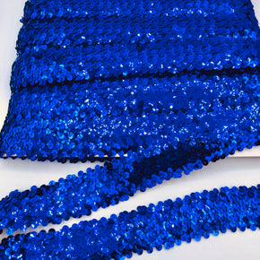 "Trimplace Royal 1-1/2"" (4 Row) Stretch Sequin"