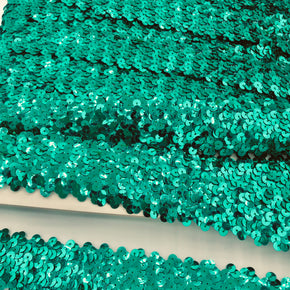 "Trimplace Jade 1-1/2"" (4 Row) Stretch Sequin"