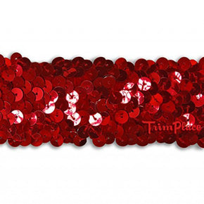 RED 1-1/2 INCH STRETCH SEQUIN