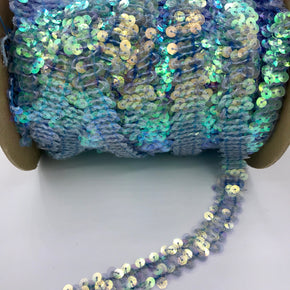 "Trimplace Nu Cry Turquoise 3/4"" (2 Row) Zig Zag Stretch Sequin"