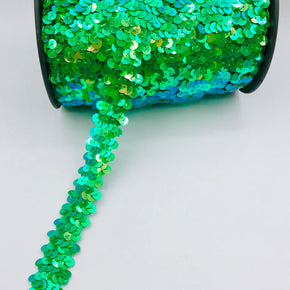 "Trimplace Jade Iris (2 Row) 3/4"" Zig Zag Stretch Sequin"