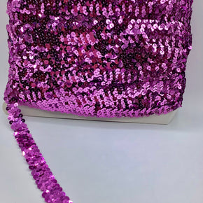 "Orchid (2 Row) 3/4"" Zig Zag Stretch Sequin"