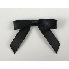 "Trimplace Black Satin Bow 2"" Wide x 1 1/4"" High"