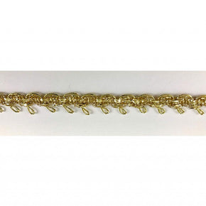 "Trimplace 3/8"" Gold Metallic Loop Trim"