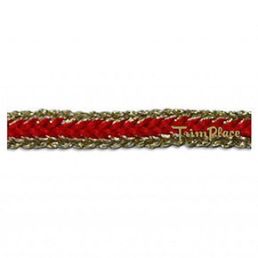 RED/GOLD 1/4 INCH LUREX