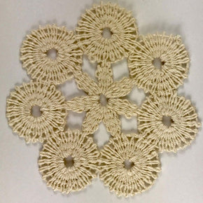 Trimplace Corded Natural Venice Lace Circle - 3 3/4 x 3 3/4