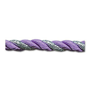 LAVENDER / SILVER 8MM TWIST CORD