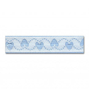 BLUE 1/2 INCH HEARTS JACQUARD RIBBON