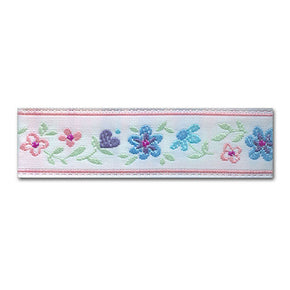 PINK 5/8 INCH MULTI FLORAL JACQUARD