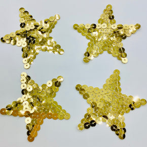 "Gold Sequin Star 3"" X 3"" Iron ON"