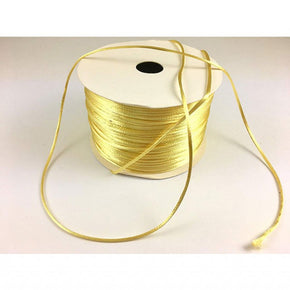 Trimplace (Yellow) Petite Satin Cord Rattail Chinese Knot - 1.5mm