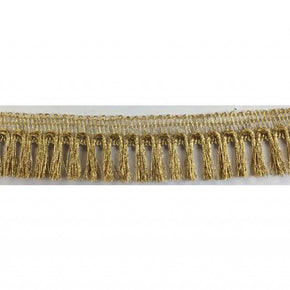 "GOLD 1"" ULTRA FINE METALLIC FRINGE"
