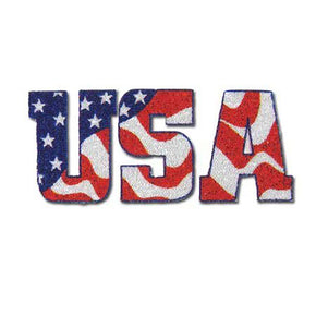 USA IRON-ON CAVIAR BEAD APPLIQUE