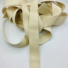 "COTTON WEBBING 1-1/2""---NATURAL"
