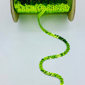 LIME 1/4 INCH SLUNG SEQUIN