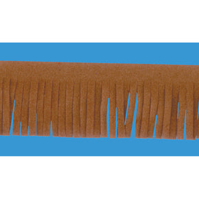 1 Inch Chestnut Faux Suede Fringe