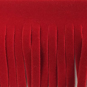 "RED 2"" FAUX SUEDE FRINGE"