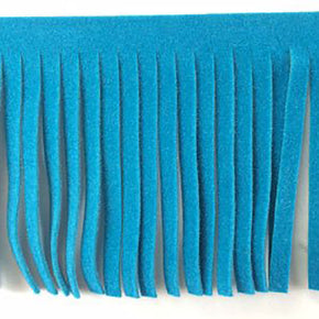 TURQUOISE 2 INCH FAUX SUEDE FRINGE