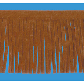 CHESTNUT 2 INCH FAUX SUEDE FRINGE