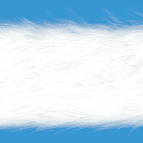 WHITE 2 INCH FAUX FUR