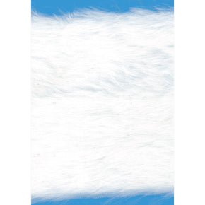 WHITE 4 INCH FAUX FUR