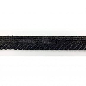 "Trimplace 3/4"" Black Twist Cord with 1/2"" Lip"