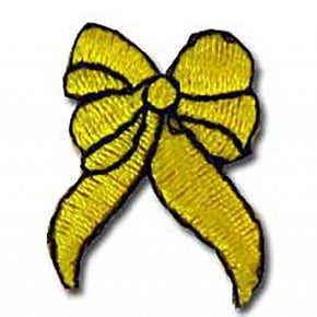 "YELLOW RIBBON PRESS-ON APPLIQUE 1"" X 1-1/4"""