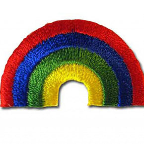 "RAINBOW PRESS-ON APPLIQUE 1-1/2"" X 1"""