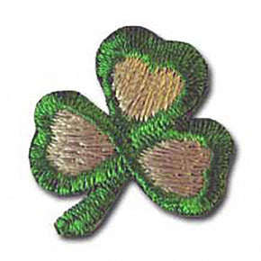 "SHAMROCK PRESS-ON APPLIQUE-1"" x 1"""