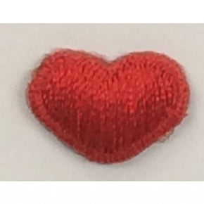 "MINI RED HEART PRESS-ON APPLIQUE 1/2"" X 3/8"""