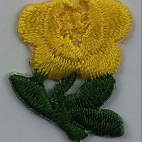 "YELLOW ROSE PRESS-ON APPLIQUE 3/4"" X 1"""