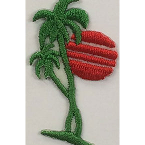 "PALM TREE PRESS-ON APPLIQUE 7/8"" X 1-1/2"""