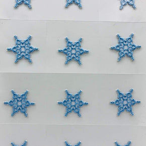 Trimplace Snow Flake Press-ON Applique- 1-3/8 inch x 1-3/8 inch - 12 Pieces