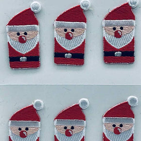 Trimplace Santa Press-ON Applique- 1 inch x 1-3/4 inch - 12 Pieces