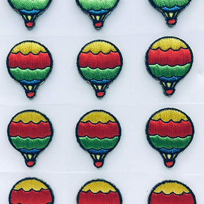 Trimplace HOT AIR Balloon Press-ON Applique- 1 inch x 1 inch - 12 Pieces
