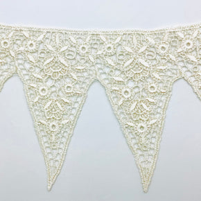 "Natural 4-1/4"" Vintage Venice Lace Edge"