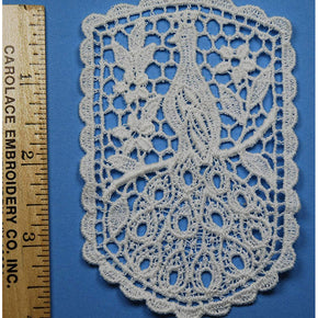 Trimplace White Venice Lace Applique %100 Cotton Vintage