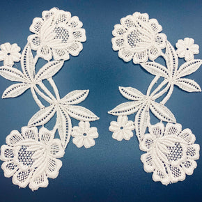 Natural Vintage Venice Lace Shape - 2 Pairs