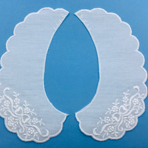 White Baby Embroidered Batiste Collar