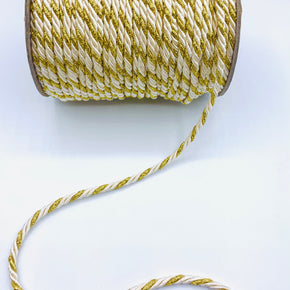 "Natural/Gold 3/16"" Twist Cord"