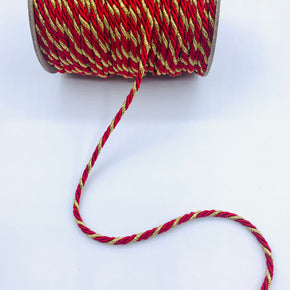 "Red/Gold 3/16"" Twist Cord"