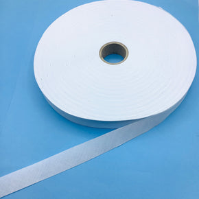 "White 15/16"" Poly/Cotton Bias Tape"