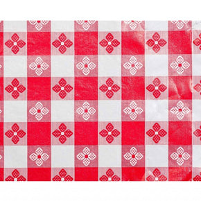 Trimplace (RED) 54 Inch Vinyl Tavern Check Fabric With Non Woven Flannel Back